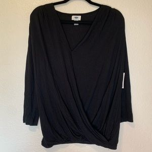 NWT Old Navy Wrap Front Long Sleeve Large